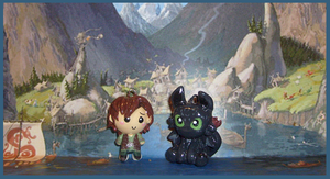 Chibi-Charms: HTTYD Duo by MandyPandaa