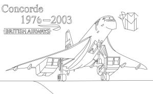 Concorde Tribute Line Art by MarcusMcCloud100