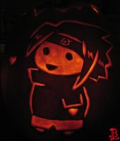 Chibi Sasuke Pumpkin Carving by adnileb