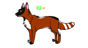 Wolf Adoptable (10 points - CLOSED) by F0XXIE