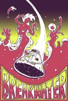 Breakwater - Gig Poster by Lolzards