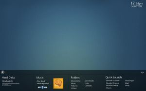 Fat Taskbar concept by Lewiogo