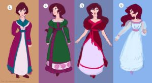 Dress Designs - 1820's - DxF by The-Ez