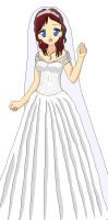 Kairi's Wedding Dress by bananafontana