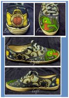 A Fallen Friend - Custom Shoe by Sparkle-And-Sunshine