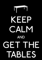 Keep Calm And Get The Tables Poster by MrAngryDog
