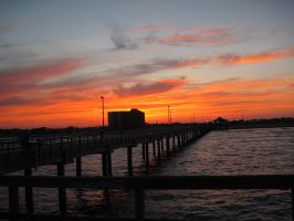 Sunset on the Pier by boxofslavery