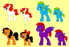 My OCs in the Pony-Creator by AleximusPrime