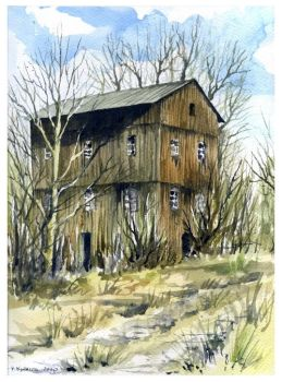 Old wooden mill by ArtCeltGallery