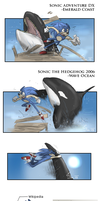 Sonic vs whales by BUGHS-22