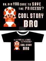 Clothing graphic - Cool story bro by AdPix