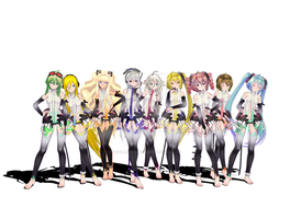 (MMD) Vocaloid Append by OoSilverRainoO