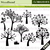 Woodland brushes by melemel