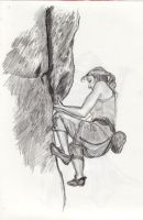 Rock Climber Woman by Chochuschuvio