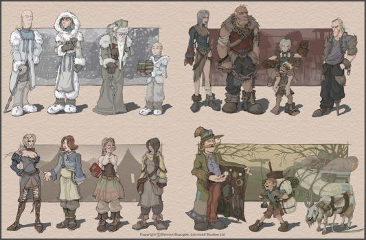 Fable villagers by OmenD4