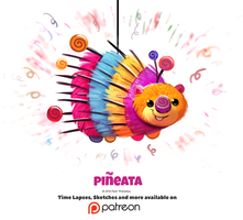 Daily 1341. Pineata by Cryptid-Creations