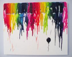Melted crayons painting by kikums
