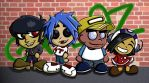 Gorillaz Chibis Phase 1 by Kasandra-Callalily