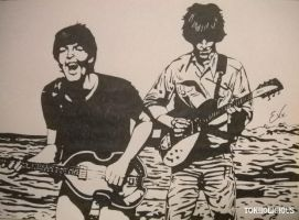 Paul and George by Tokiiolicious