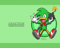 Sonic Channel Bean Wallpaper by E-122-Psi