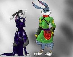 Dem lagomorphs in robes by SkitzOpheliac