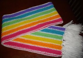 Rainbow Candy Scarf by lessthan3chrissy