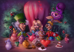The tea party by Sandramalie