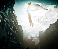 I wish to have wings by Menami