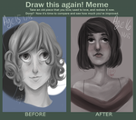 Before and After - Portrait by AdenChan