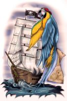 Parrot Ship by artfullycreative