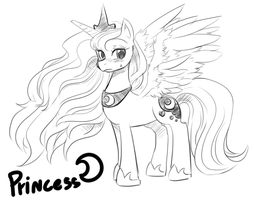 Sketch - Princess Luna 2 by freedomthai