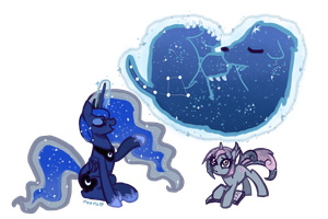 Commission: Stargazing with Luna by Fyrebeam