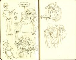 Man-Thing moleskines by willmeister42