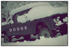 Snow Covered Dodge by FrancesColt