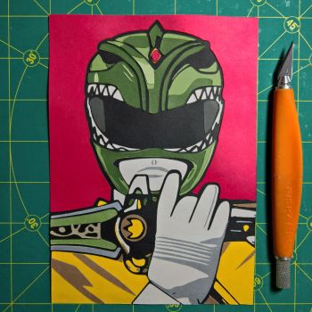Green Ranger by Papergizmo