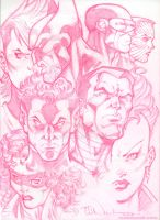 X-Men 1984 pencil sketch by ToddNauck