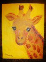 Giraffe Oil Painting by FoxiArtist