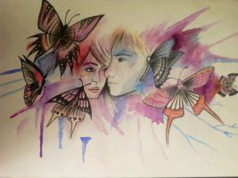 Love gives us butterflies by thea6666