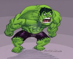 The Incredible Hulk Yelling by Stnk13