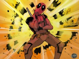 Psy-pool Deadpool by juliodelrio