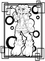 Monster Girl Coloring Page by shatishamararie