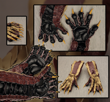 dragon gloves - yellow/red/black by SagandeTeam