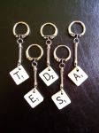 Scrabble Keyrings by MonstArt