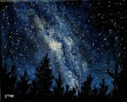 Milky Way Galaxy IV by ThisArtToBeYours