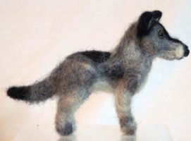 Needle Felted Blue Healer Dog by The-GoblinQueen