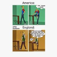 America VS England- Swearing while in pain by toonlink682