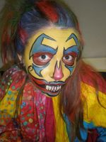 Multi color clown by dragonhuntr