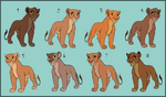 Even more lioness adoptables - CLOSED by HydraCarina