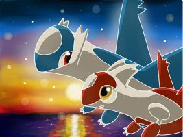 Latios and Latias by 29steph5