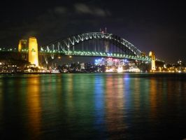 Sydney Harbour at Night by jay-light